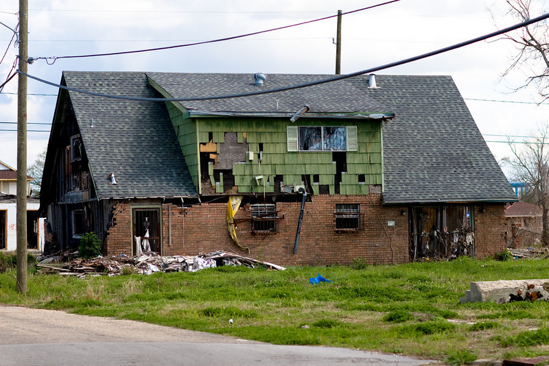 Destroyed house in the 9the Ward