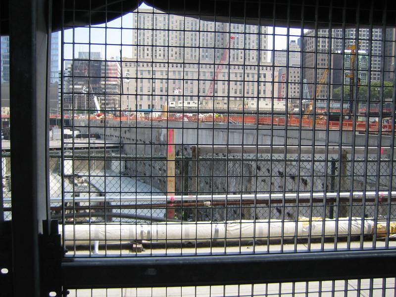 Ground Zero - the site of the World Trade Center