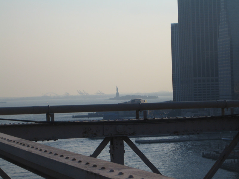 The Statue of Liberty from the Bridge
