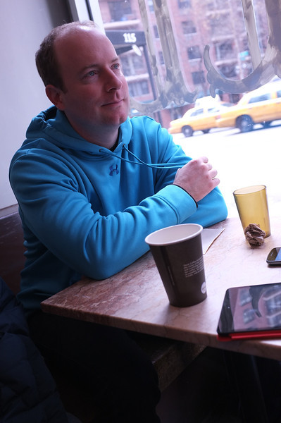 Getting coffee while waiting for a seat at Ippudo NY