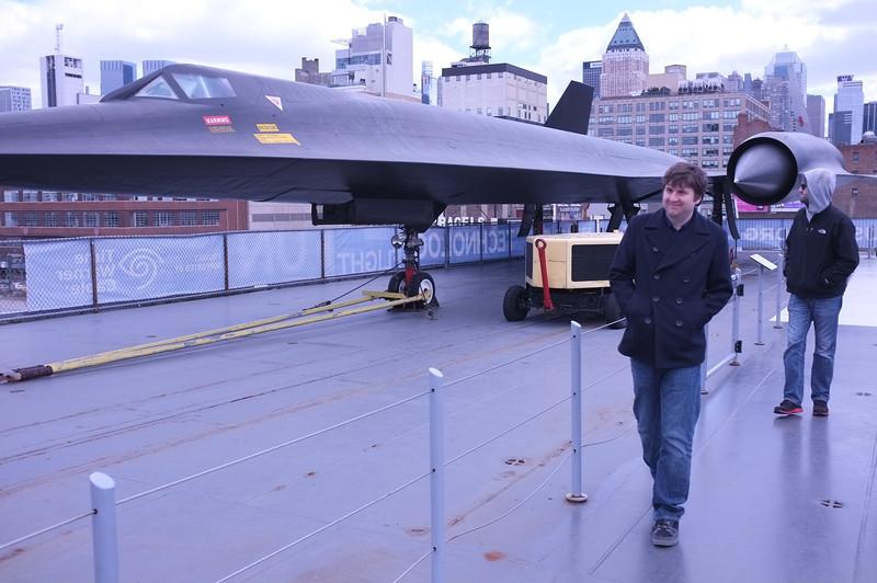 Erik next to a Lockheed A-12