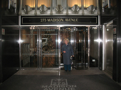 Her office address was changed to reflect the better known street - Madison Avenue.