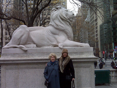 These lions are in front of the New York Public Library - an architectural wonder in itself.  It is said that when a virgin walks by, the lions roar.  They have been curiously silent.
