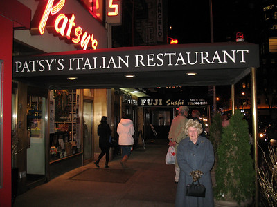 The last night, Mama treated me to my birthday dinner at Patsy's - a family owned Italian Restaurant in Manhattan, since 1944.   http://www.patsys.com/ourstory.php