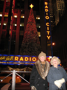 Me and Mama at Radio City Music Hall.