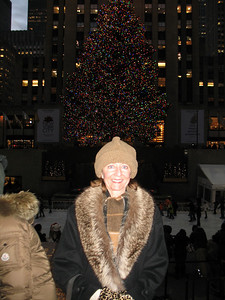 Me in front of the tree at Rockefeller Center.