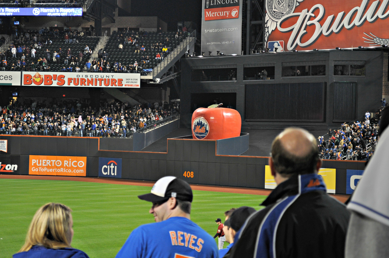 Red Apple pops up when the Mets hit a homer.