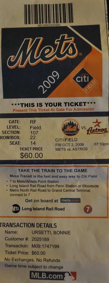 Our ticket