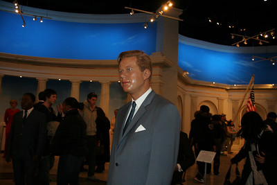 On my way to see Young Frankenstein, I visit Madame Tussaud's wax museum.