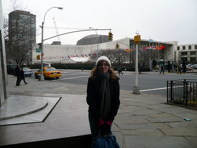 A winter trip to the city with Laina.