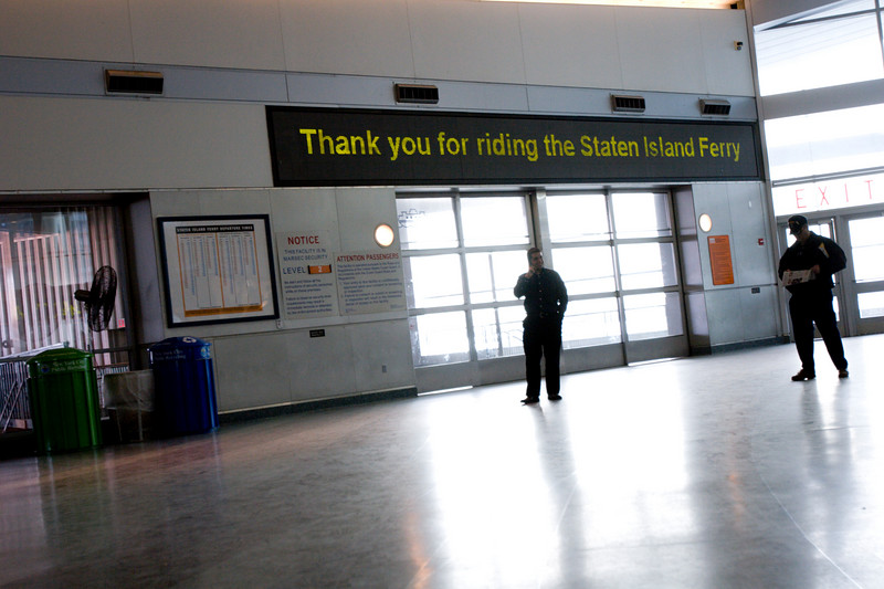 Thank you for riding the Staten Island Ferry