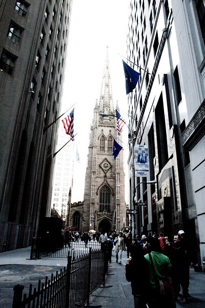 Church at the end of Wall Street