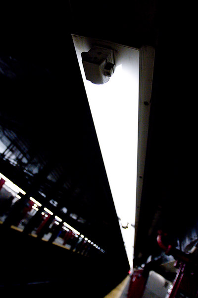 Fluorescent Lights in Subway