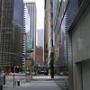 Walking in downtown Manhattan