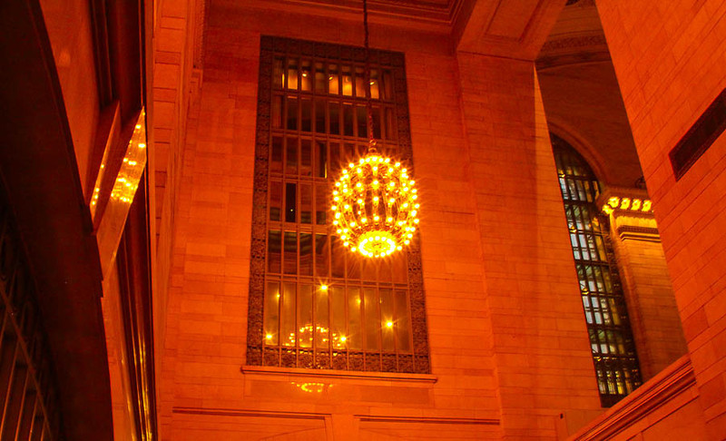 Inside Grand Central.