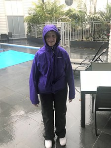 Driving rain and strong winds, but we were prepared....rain jackets AND pants!