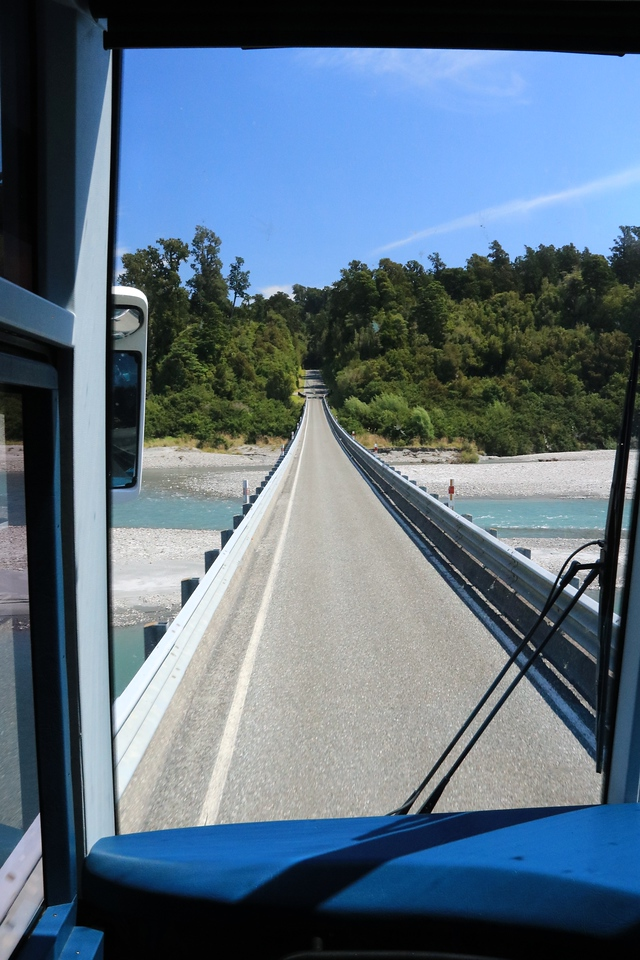 Continuing on our way, another very long one lane bridge......