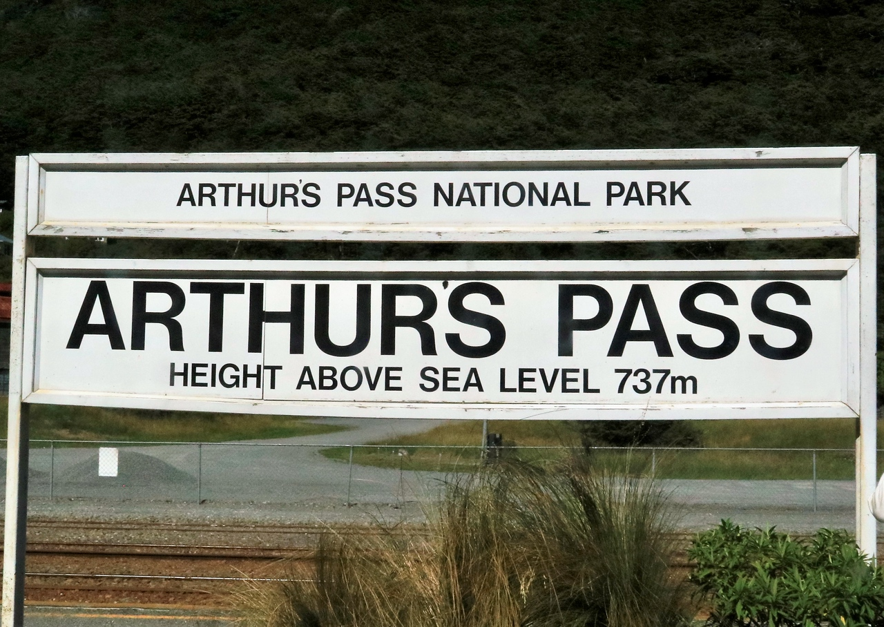 We arrived at Arthur's Pass about 2 1/2 hours after leaving Christchurch.  This is essentially the only way to get to the west coast for many miles, especially toward the south.  It is also the highest and the most scenic.  It was named after the Arthur Dobson who found the route and decided it was the best way to get from east to west in 1864.