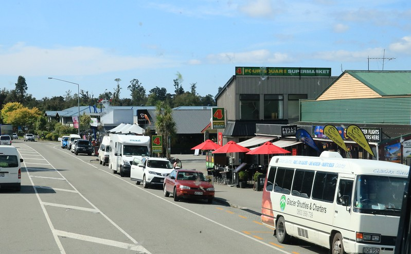 The busy little town of Franz Josef.