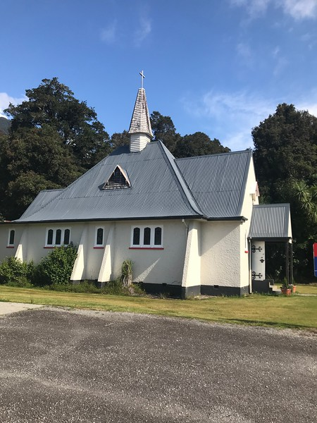Our Lady of the Alps Catholic Church.  The priest only comes once every two weeks!