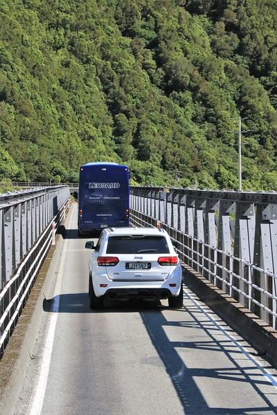 More one-lane bridge.