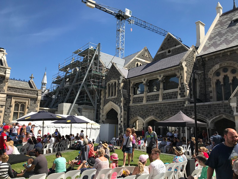 A concert was taking place in the inner courtyard.  You can see some of the restoration work in progress,