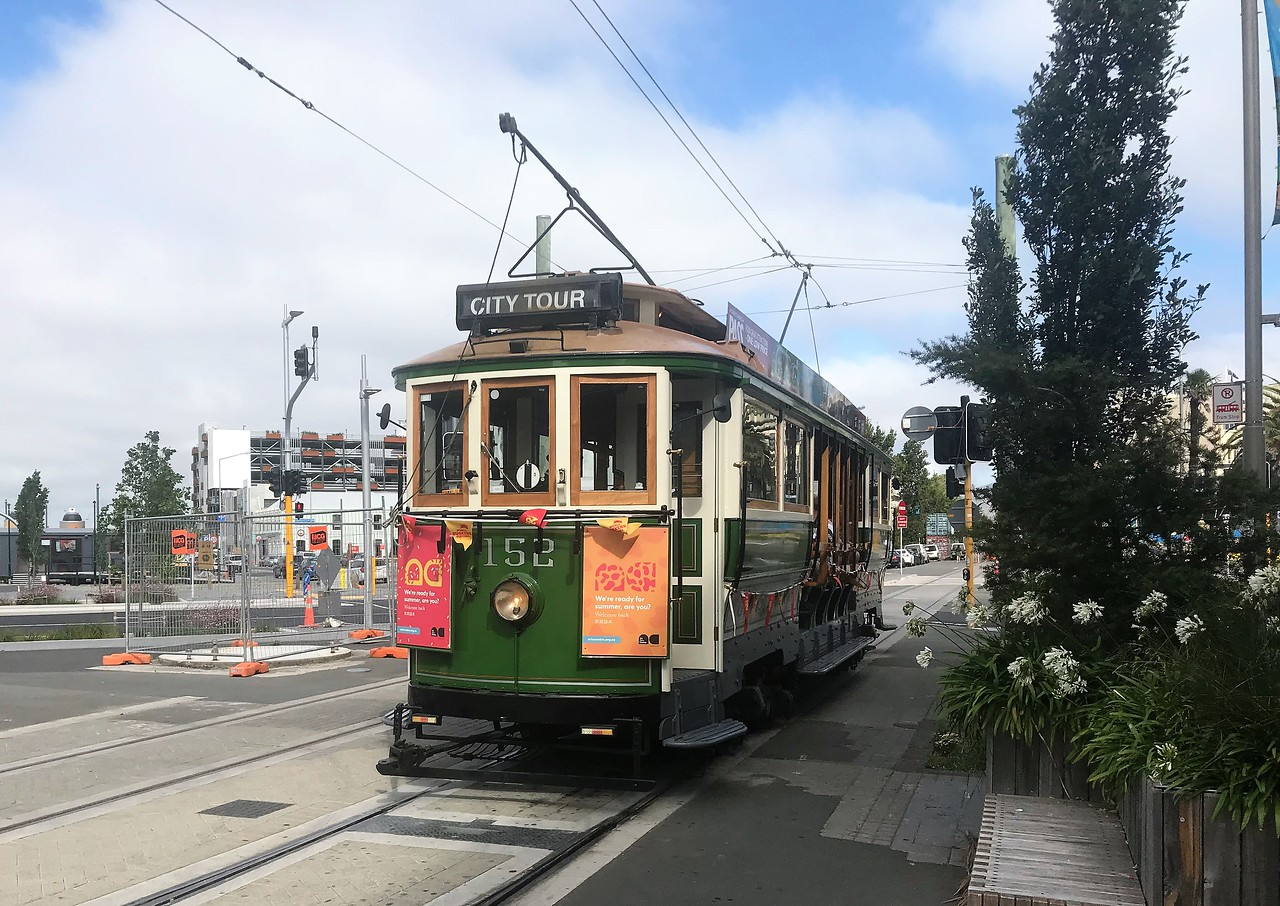 Another city trolley, used mostly for tourists.