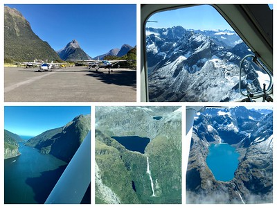 At the last minute we had the opportunity to do a scenic flight from Milford Sound back to Queenstown...all we have to say is WOW!