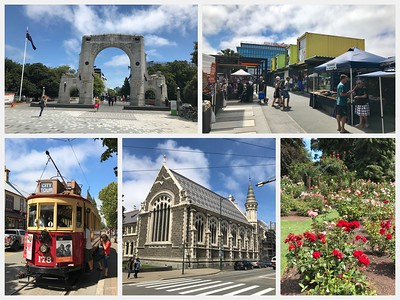 Beautiful day in Christchurch...classic architecture and the botanical gardens were spectacular...the pop up Restart Mall with restaurants and shops in shipping containers!
