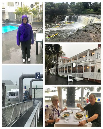 It rains in New Zealand☔️☔️..so much that our boat tour got cancelled....still a fun day. We were prepared with all our rain gear! Took a ferry across the bay to Russell for a fabulous dinner!