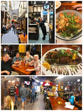 A wonderful dining experience...Elliott Stables...you order your food (wine and beer too) at any restaurants and it's delivered to your table🍷🍺