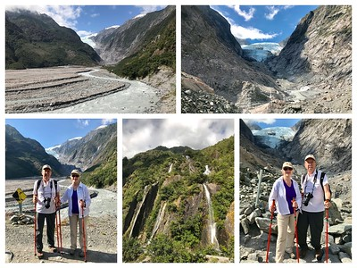 Today was all about glaciers...a glorious day to hike to view the Franz Josef Glacier☀️