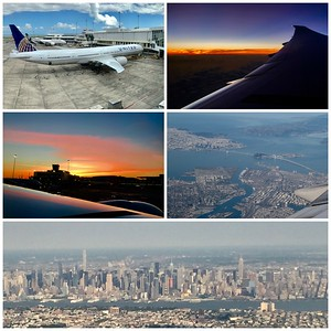 Leaving Auckland...sunset followed by sunrise...San Francisco...then on to NJ with a great view of NYC...good to be home