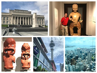 A fun day in Auckland...museum with a large Maori exhibit and then lunch at the Sky Tower!