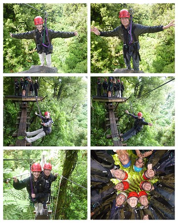 It's all about adventures here in New Zealand....today it was zip lining!  6 zip lines and 2 swinging bridges!