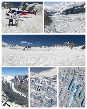 It's still all about the glaciers...what an adventure to go by helicopter and land on the Fox Glacier...words can't describe it!