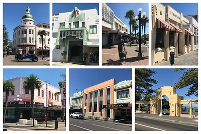 The town of Napier is all about Art Deco..it was destroyed by an earthquake in 1931 and rebuilt in Art Deco style and one of the Worlds best example of this.