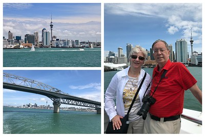A spectacular day for a harbor cruise in Auckland