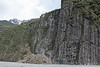 Day 4: Tuesday, 31 August 2010 - We took a bus from the town to a parking lot near the base of Fox Glacier.  This is a cliff we passed on the way to the glacier.