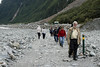 Day 4: Tuesday, 31 August 2010 - on our way to the base of the glacier.  David Brummel is in the lead.