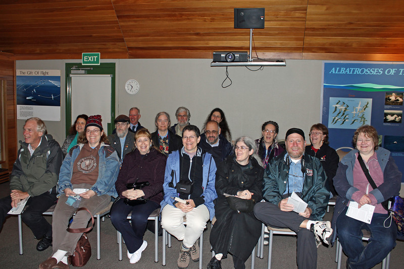 Day 3: Monday, 30 August 2010 - we gather for an introductory video on the Royal Albatross at the Royal Albatross Centre, home of the only mainland breeding colony for any albatross species found in the Southern Hemisphere.