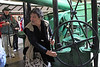 Day 3: Monday, 30 August 2010 - our guide, Mary, showing us the 1886 Armstrong Disappearing Gun, that was installed to counter an anticipated treat of invasion from Tsarist Russia.