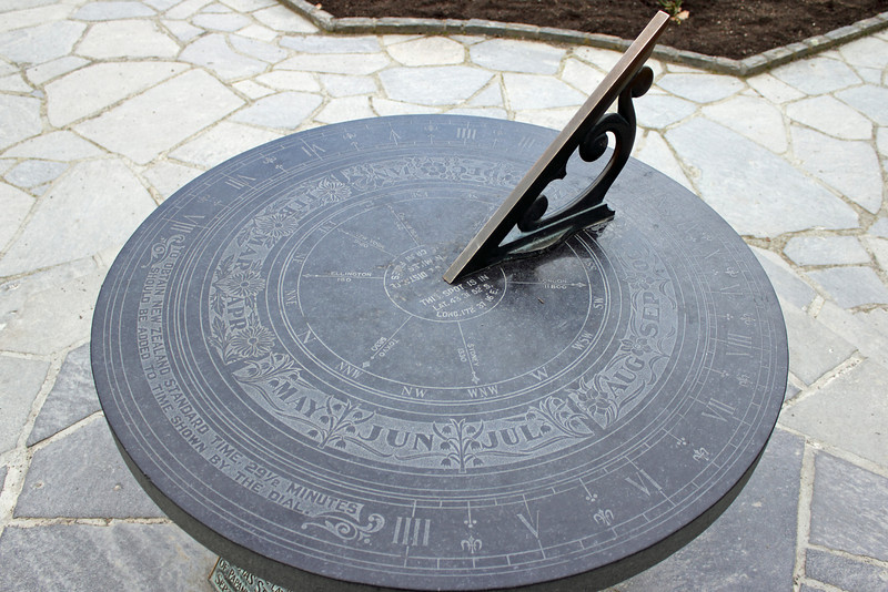 Day 1: Saturday, 28 August 2010 - a sun dial in the center of the Central Rose Garden.