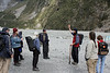 Day 4: Tuesday, 31 August 2010 - our guide, Pete, talking about the glacier.