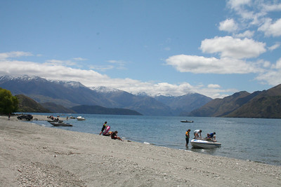 Lake Wanaka, that water is absolutely freezing! What are those people thinking?
