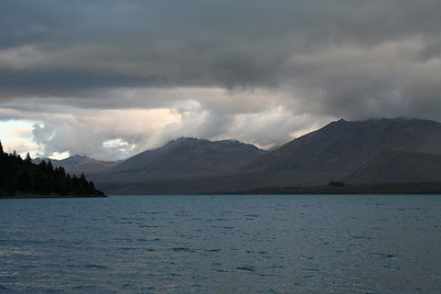 Lake Tekapo, a glacial lake below Mt Cook.