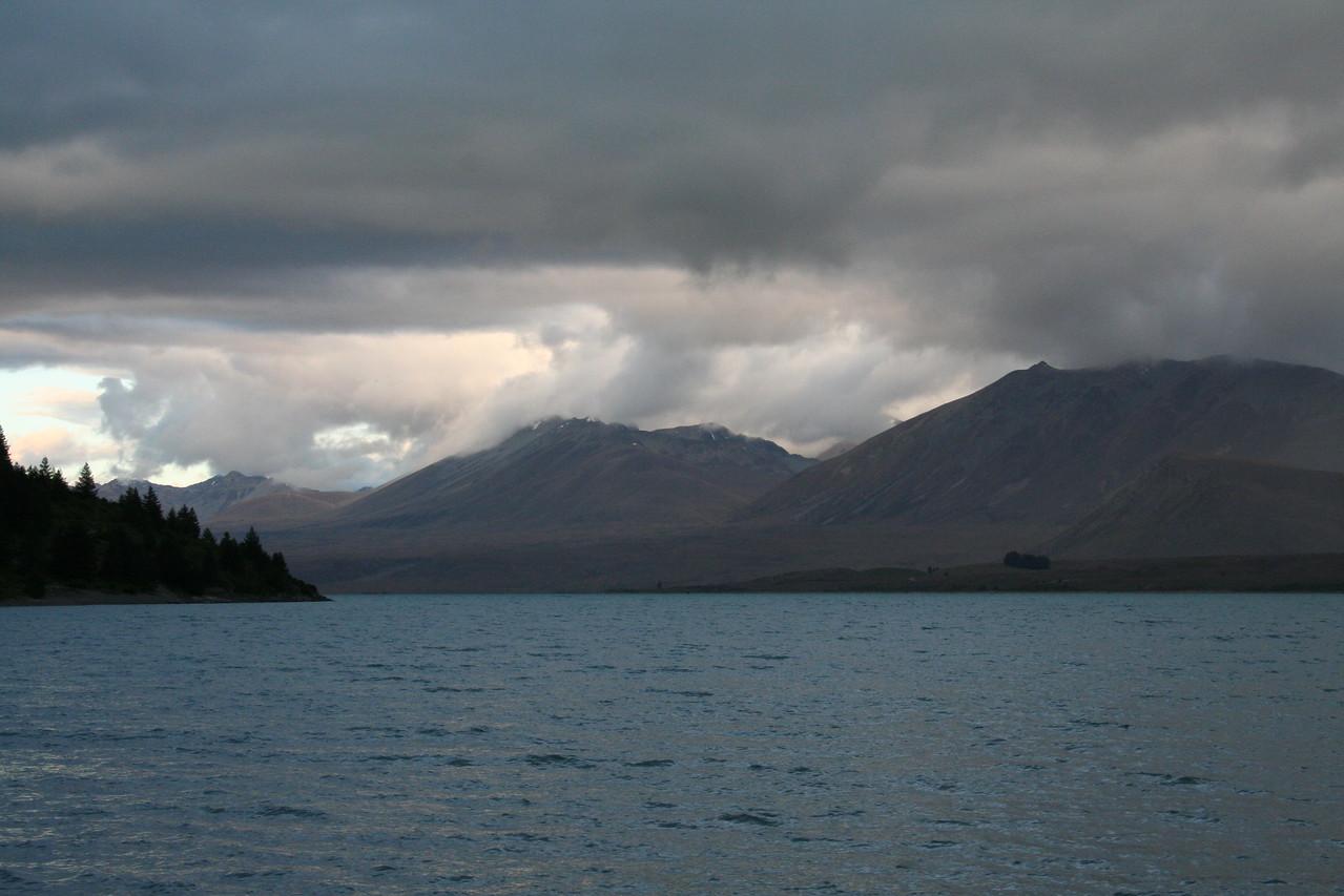 Lake Tekapo, a glacial lake below Mt Cook.