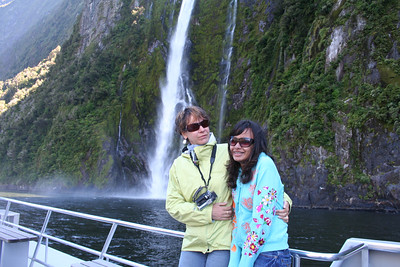 Ila and Namoi on Milford Sound.