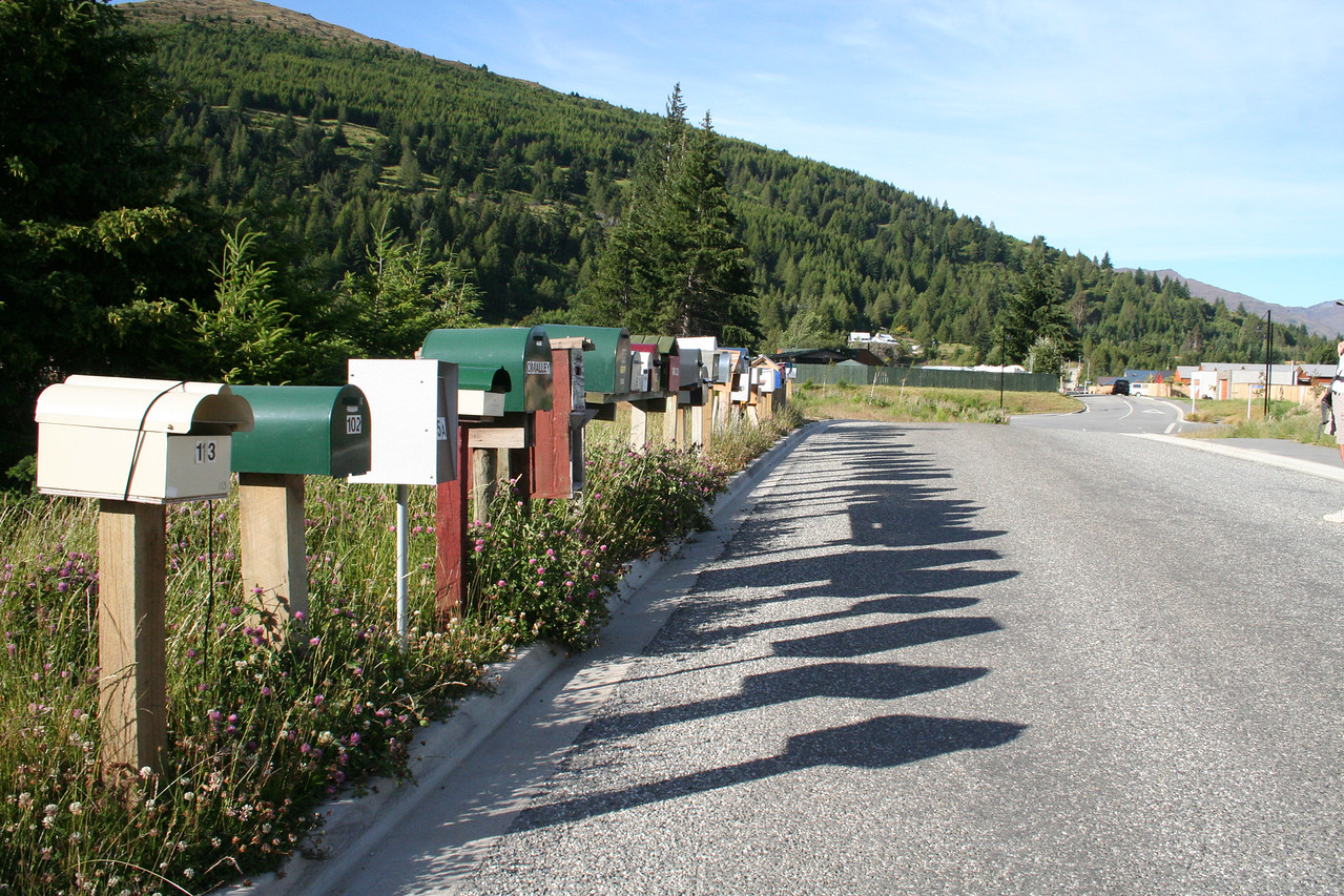 Mailboxes all in a row.