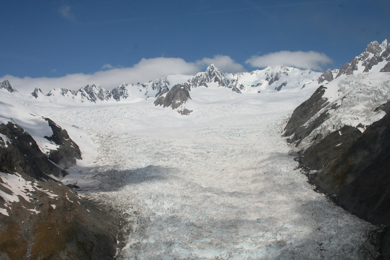 Fox Glacier from the helicopter.